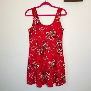 H&M Red Floral dress Size 10